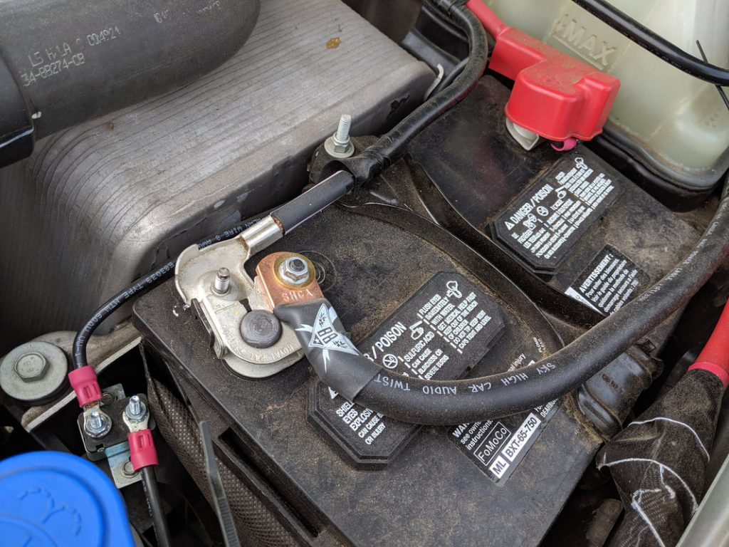 electrical system connected to truck batteries