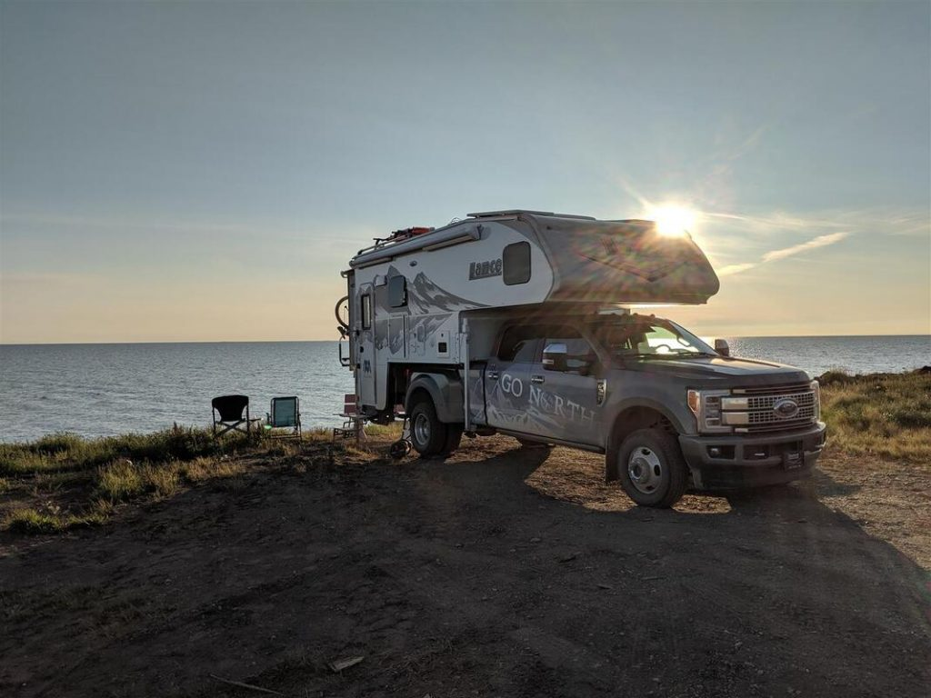 Expedition Truck Camper Camped on Arctic ocean