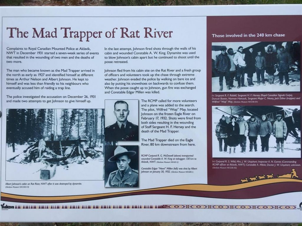 mad trapper info sigh along dempster hwy