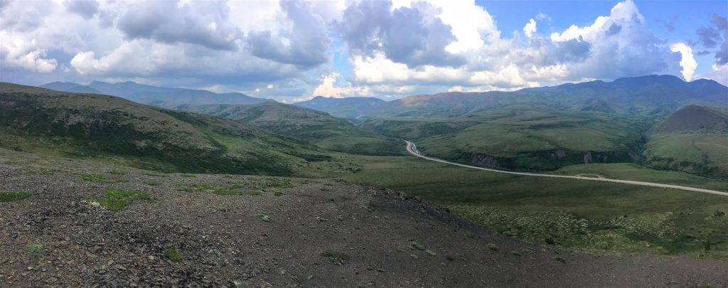 Spectacular view from dempster highway